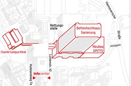 Charite Mitte Lageplan