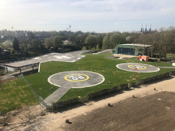 The dedicated helicopter landing area following renovation. Copyright: Christian Ozminski | CFM