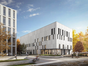 Berlin Center for Advanced Therapies (BeCAT). Copyright: DGI Bauwerk, Visualisierung: IMAGINA. Visual Collaboration.